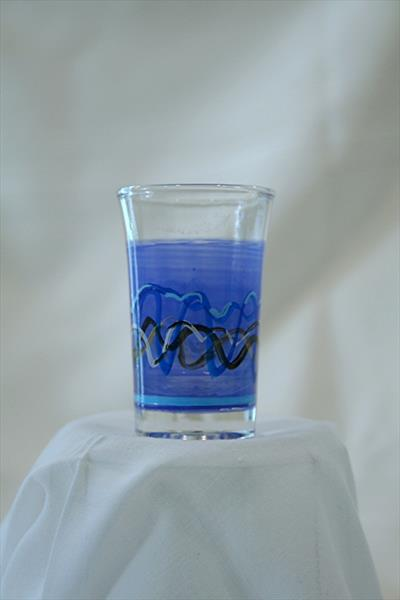shot / dessert glass - blue ribbon by Andre Dluhos