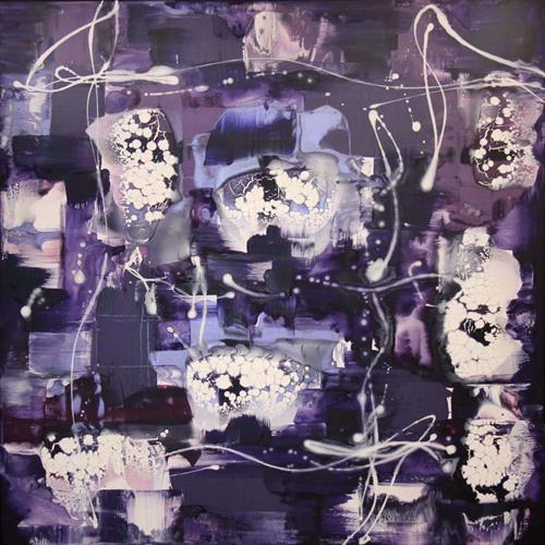 In My Heaven (purple abstract) by Paresh Nrshinga