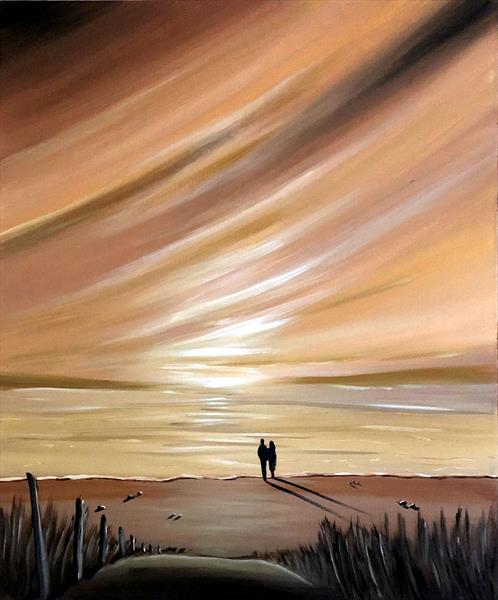Watching The Caramel Sky - large by Aisha Haider