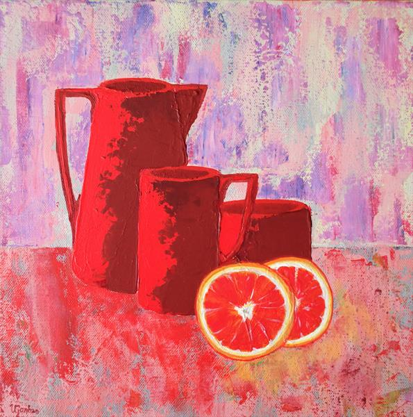 Still Life with Grapefruit Slices by Viktoria Ganhao