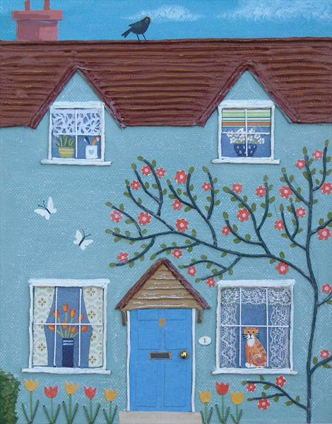 SPRING SALE - Little House No.1 by Josephine Grundy