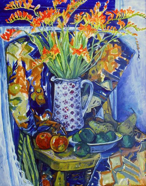 Autumn colours still life by Patricia Clements