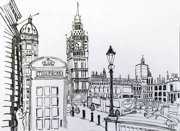 London Bustle  by Angela O'Donnell