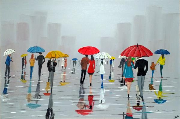 City If Umbrellas