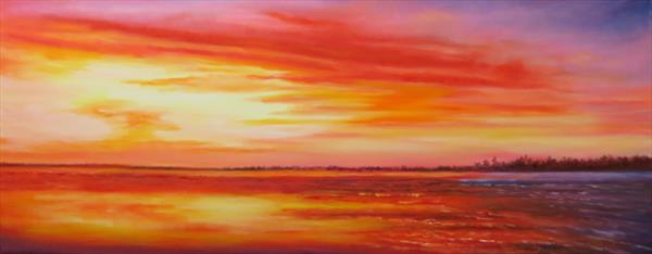 Keralian Sunset by Maureen Greenwood