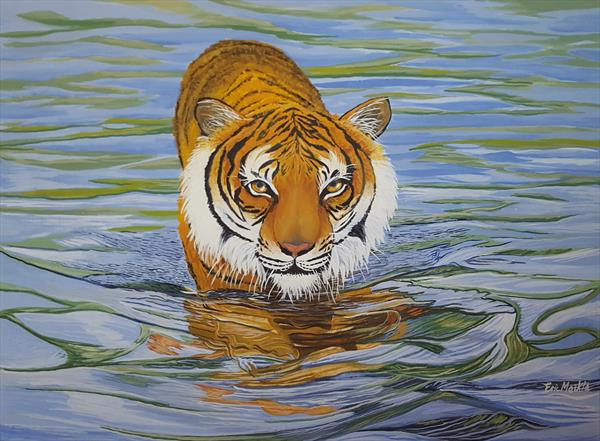 Prowling Tiger by Eric Meikle