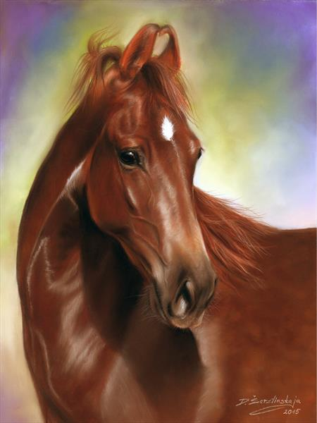 Marwari Horse by Danguole Serstinskaja