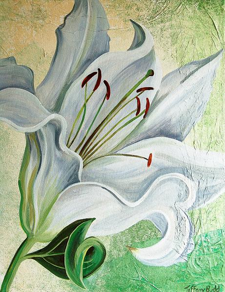 White Solo Lily by Tiffany Budd
