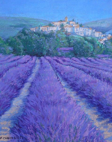Lavender fields giclee print by Patricia Clements