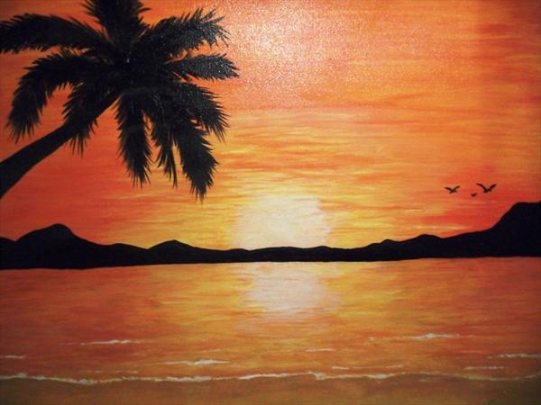 Tropical Sunset by Susan Cook