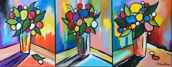 Simply flowers - Triptych