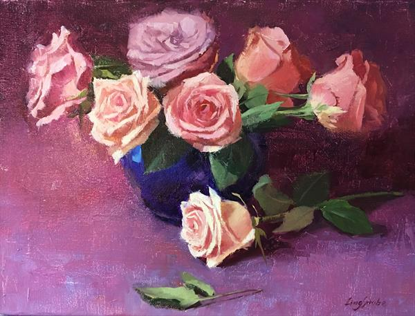 Rose Banquet - 2 (Frame) by Ling Strube