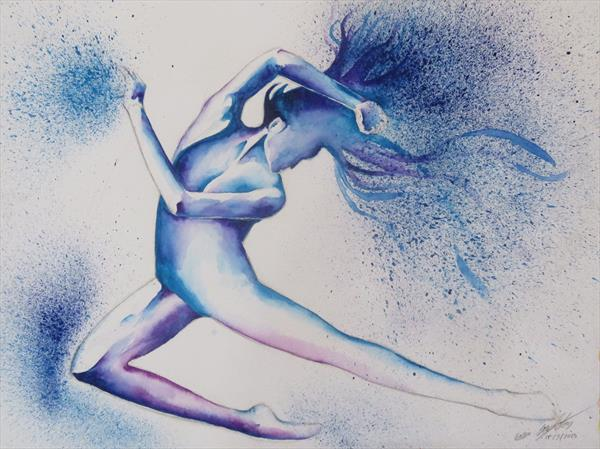 Dancer in Blue by Gavin Singleton