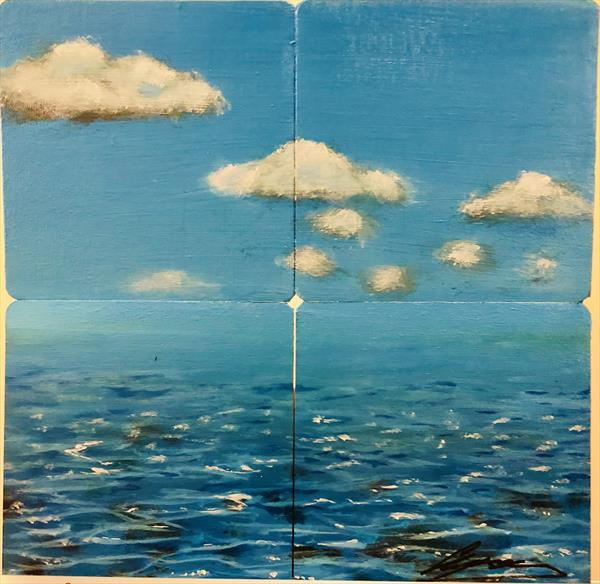 Hand Painted Coasters - Calm waters