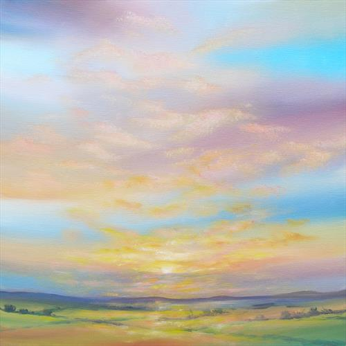 Sunset Over The Fields by Sarah Featherstone