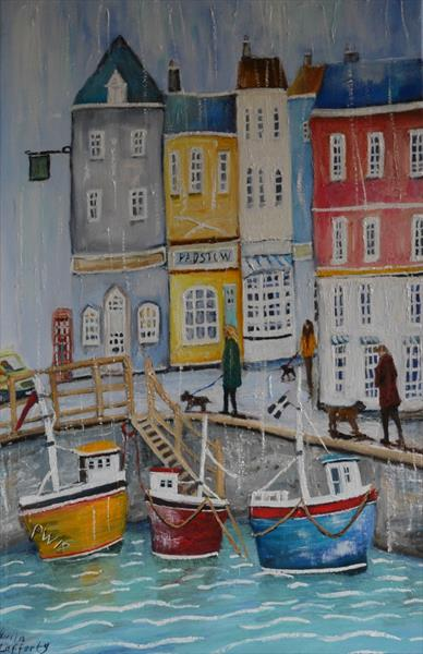 Padstow Harbour Cornwall by Julia Lafferty