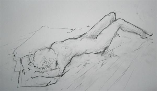 Reclining Nude by Steve Fray