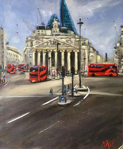 The Royal Exchange - London by Marcela Rogel de Pepper