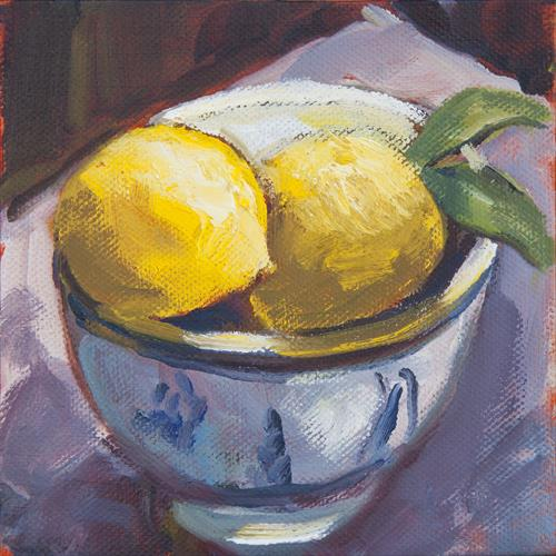 Bowl of Lemons by Wendy Clouse