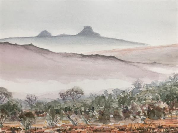 Mist below Haytor by Peter Blake