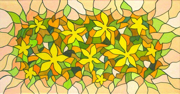Yellow Flower Mosaic by Patricia Unwin