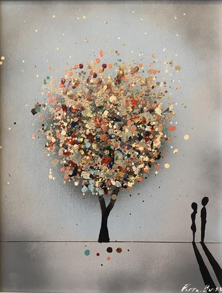 The wishing tree - FRAMED small  by Pippa Buist