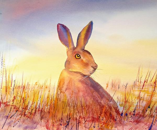 HARE - JUST WAITING by Gill Michael