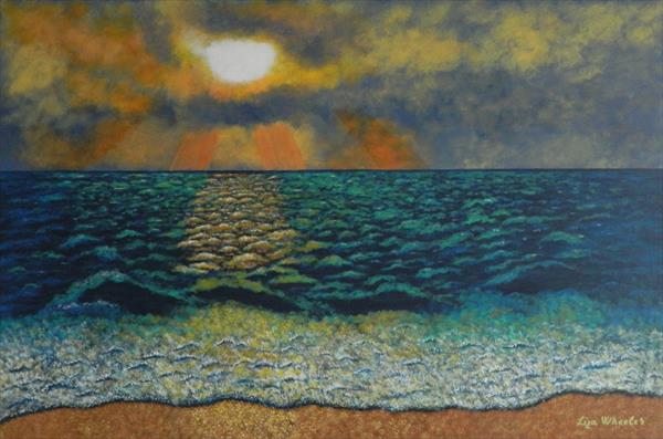 Majestic Morning - large impressionist seascape by Liza Wheeler