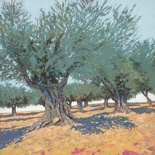 Olive Grove (Original artwork) by Tracey Pacitti