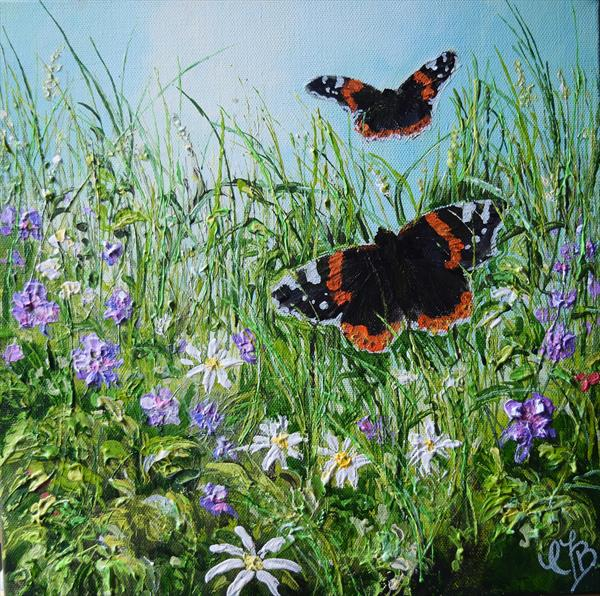 Red Admirals by Colette Baumback