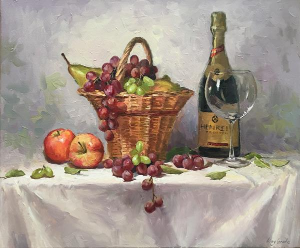 A Basket of Fruit by Ling Strube