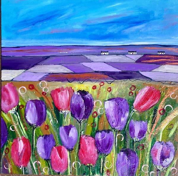 A View of Tulips  by Caroline Duncan