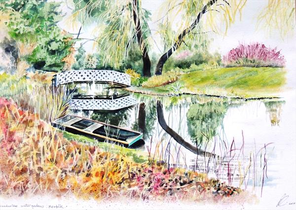 Gooderstone Water Gardens, Swaffham, Norfolk in  February by Elizabeth Sadler