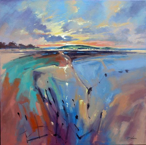 Evening Sunlight Over Beach  by David Shiers