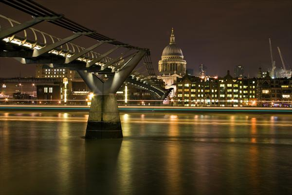 St Pauls & the Bridge by Malcolm Smith