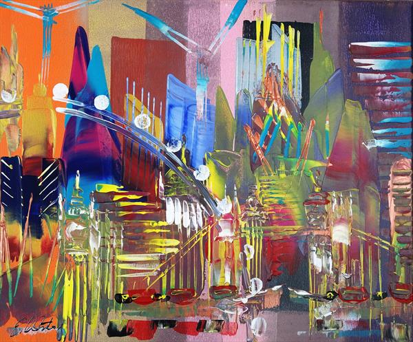 London Cityscape Abstract 698 by Eraclis Aristidou