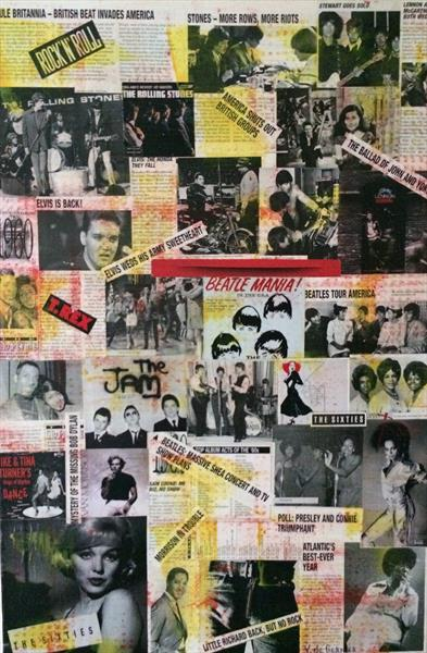 Nostalgia, Rock N Roll collage by Vera De-Gernier