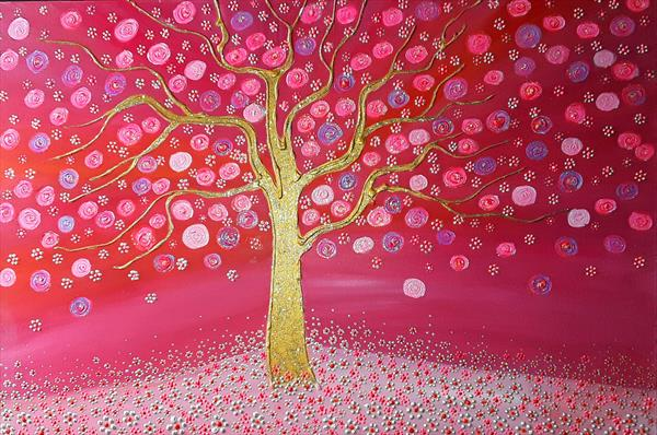 Vibrant Blossom Tree by Angie Livingstone