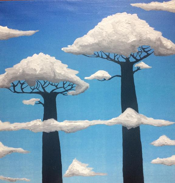 The abstract painting Baobab duo by Mischa Sancheess