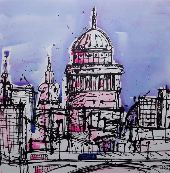 St Paul's London (24x24) by Keith Mcbride