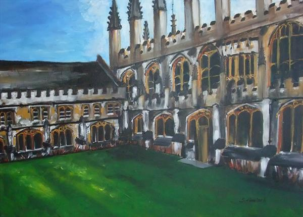 Magdalen College Oxford by Sandra Hanisch