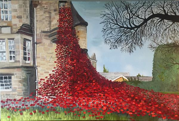 Poppies - Weeping Window (At the Blackwatch Museum, Perth) by Laura Usher