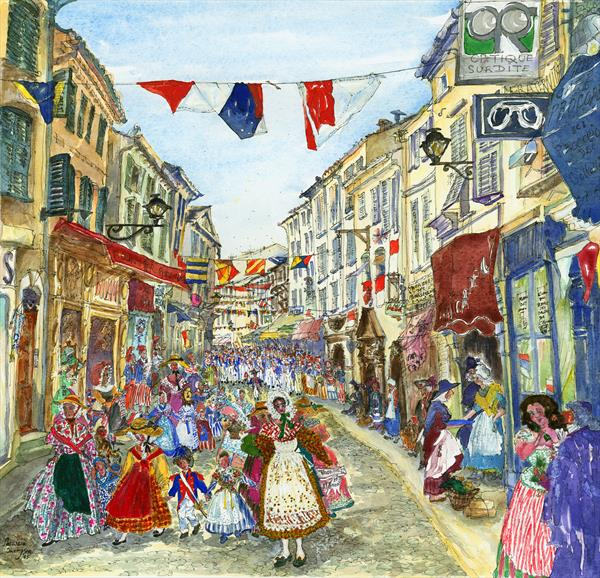 BASTILLE DAY in ST. TROPEZ, SOUTHERN FRANCE by Patricia Edith Mary Thompson