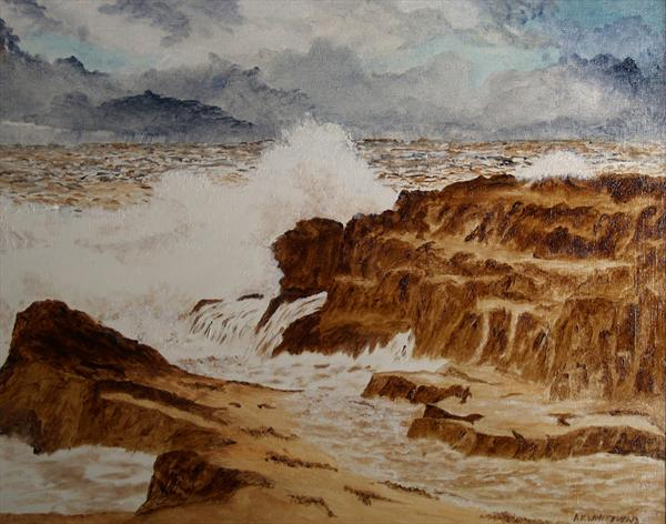 Rough Sea, Cumbria by Anthony Keith Whitehead