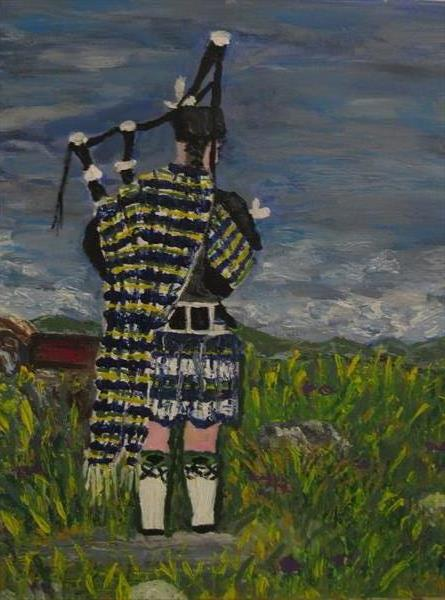 Lone Piper by Francoise Booth