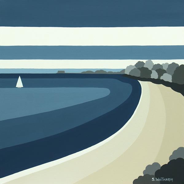 PRIORY BAY (BLUE) ORIGINAL PAINTING by Suzanne Whitmarsh