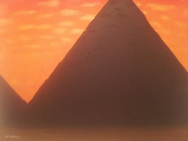 Pyramid sunset by Will Hobday