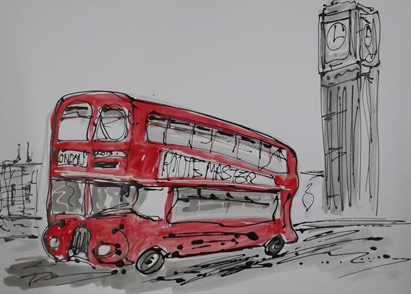 Routemaster On Westminster Bridge