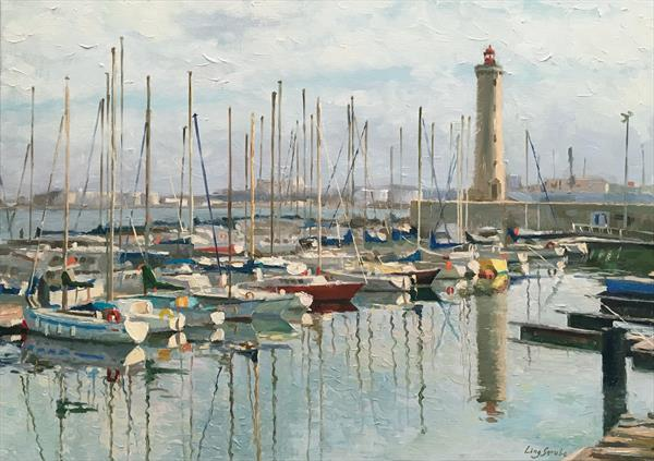 France Harbour - Sete by Ling Strube