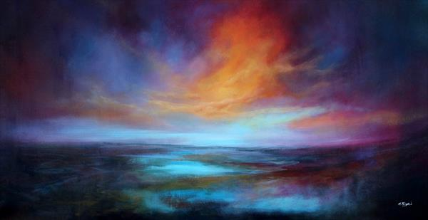 I Was There For You #3 - Large original abstract landscape by Cecilia Frigati